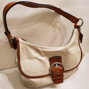 Coach Cream Leather Soho Shoulder Hobo Bag